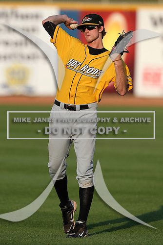 Bowling Green Hot Rods outfielder Ty Morrison during a game vs. the Lake County Captains at Classic Park in Eastlake, Ohio;  August 20, 2010.   Lake County defeated Bowling Green 5-3.  Photo By Mike Janes/Four Seam Images