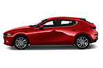 Car driver side profile view of a 2019 Mazda Mazda-3 Style 5 Door Hatchback