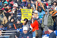 Annapolis, MD - DEC 28, 2017: A Virginia Cavaliers fan holds up a sign during game between Virginia and Navy at the Military Bowl presented by Northrop Grunman at Navy-Marine Corps Memorial Stadium Annapolis, MD. (Photo by Phil Peters/Media Images International)