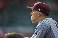 Alex Pener (23) of the Mississippi State Bulldogs during the game against the Sam Houston State Bearkats during game eight of the 2018 Shriners Hospitals for Children College Classic at Minute Maid Park on March 3, 2018 in Houston, Texas. The Bulldogs defeated the Bearkats 4-1.  (Brian Westerholt/Four Seam Images)