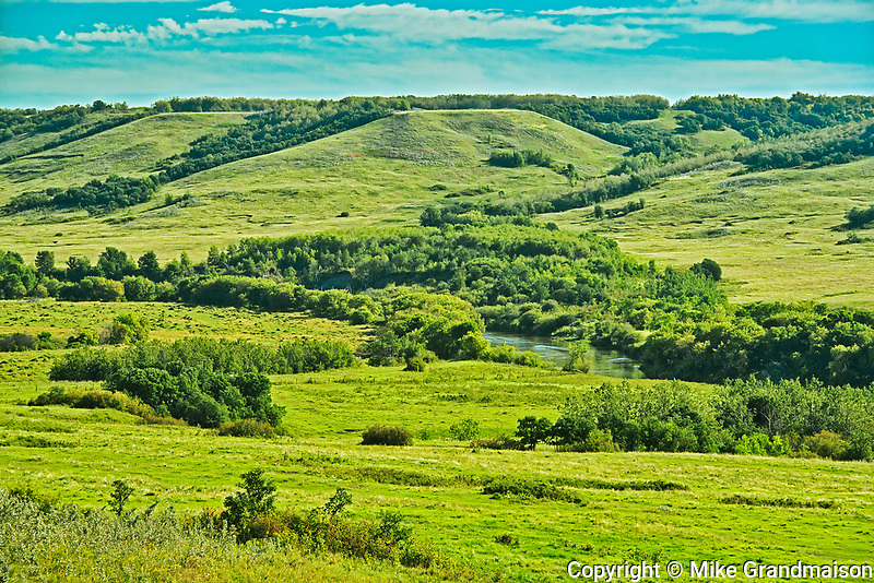 Valley along the Assiniboine River, , Manitoba, Canada