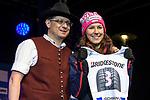 09.03.2018, Rathausplatz, Sonthofen, GER, Slalom Weltcup in Ofterschwang, im Bild Startnummerauslosung mit Wendy Holdener (SUI, #3)<br /> <br /> Foto &copy; nordphoto / Hafner