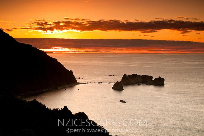 Sunset at Knight's Point on the West Coast - South Westland, West Coast, New Zealand