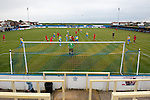 Canvey Island 1 Harrow Borough 0, 17/10/2015. The Frost Financial Stadium, Ryman Premier League. Canvey Island in yellow played host to Harrow Borough in red in a Ryman Premier League match. The match was won by the home side by 1 goal to 0 and was watched by a crowd of 333. Canvey Island play at their home matches at The Frost Financial Stadium or Park Lane. The ground is a few feet below sea level, making it one of the only football stadiums in the UK to be as such. The ground has a capacity of over 4,500 and the stadium has reached its capacity on one occasion, when the team faced Northampton Town in the FA Cup in 2001. Photo by Simon Gill