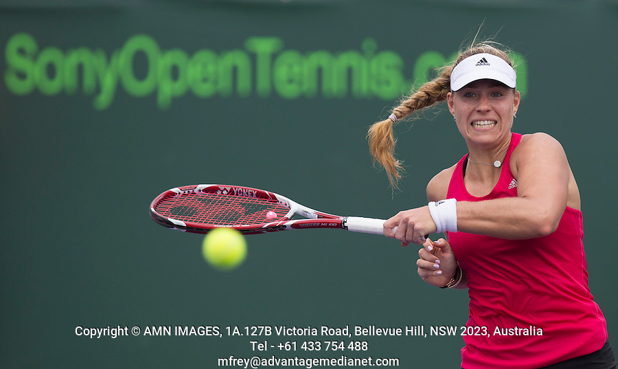 ANGELIQUE KERBER (GER)<br /> Tennis - Sony Open -  Miami -   ATP-WTA - 2014  - USA  -  24 March 2014. <br /> <br /> &copy; AMN IMAGES