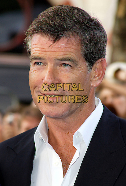 "PIERCE BROSNAN.""Mamma Mia!"" world film premiere Odeon Cinema, Leicester Square, London, England 30th June 2008. .arrivals portrait headshot white shirt.CAP/ROS.©Steve Ross/Capital Pictures"