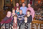 Joint Christmas party celebrations for Brosna and Rockchapel Post Offices, pictured here last Friday night in Leen's Hotel, Abbeyfeale. F l-r: John O'Sullivan, Ellen Cronin, Eileen Enright, Henry Keogh, Ann Keogh, Gobnait Scanell. B l-r: Seamus Enright, Gabrielle O'Sullivan, John Cronin and Eamon Scanell.