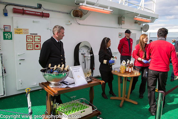 Celebration crossing the Arctic Circle heading south, Norway on Hurtigruten ferry