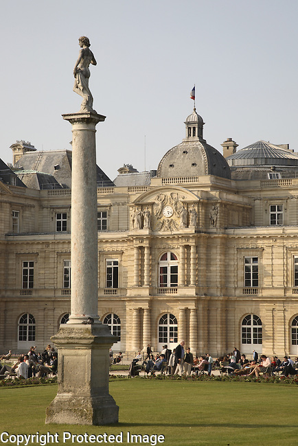 Luxembourg Gardens and Palace; Paris; France