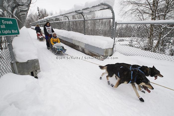 Karin Hendrickson Saturday, March 3, 2012  Ceremonial Start of Iditarod 2012 in Anchorage, Alaska.