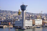 - porto di  Genova, torre di controllo....- Genoa port, control tower