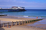 AMHK1A Cromer pier and beach Norfolk England