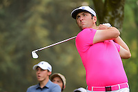 Jon Rahm (ESP) watches his tee shot on 7 during round 3 of the World Golf Championships, Mexico, Club De Golf Chapultepec, Mexico City, Mexico. 3/4/2017.<br /> Picture: Golffile | Ken Murray<br /> <br /> <br /> All photo usage must carry mandatory copyright credit (&copy; Golffile | Ken Murray)