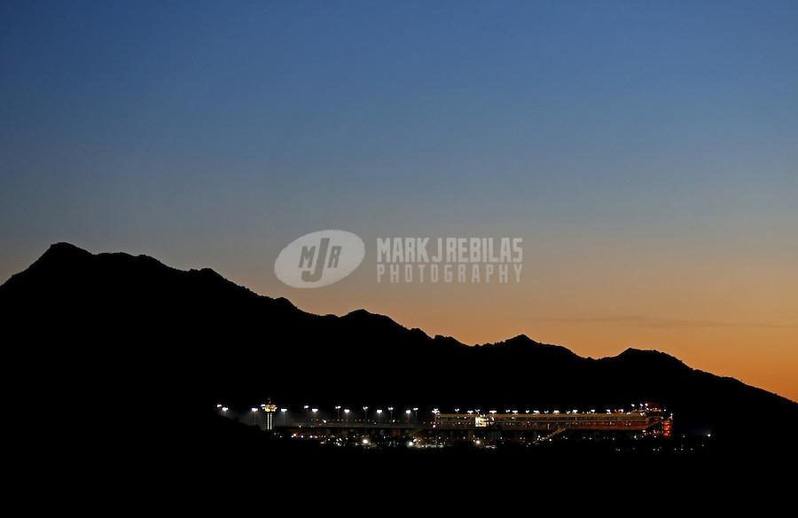 Mar. 2, 2013; Avondale, AZ, USA; Overall view of Phoenix International Raceway following the NASCAR K&N Pro Series West race, the Talking Stick Resort 60. Mandatory Credit: Mark J. Rebilas-