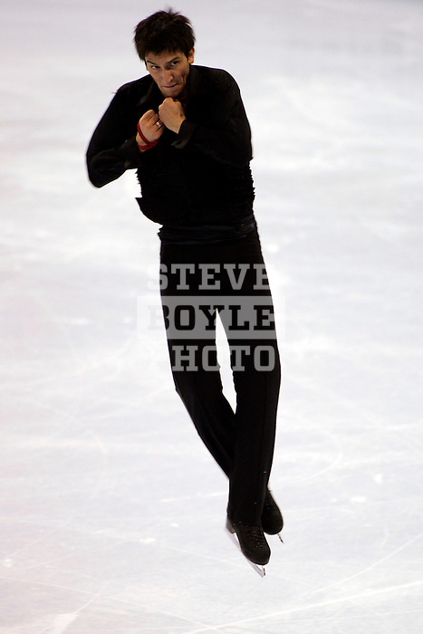 Evan Lysacek (USA) performs during the 2006 State Farm U.S. Figure Skating Championships at the Savvis Center on January 14, 2006 in St. Louis, Missouri.  Lysacek placed second in the event and will be competing at the Olympics in Turin, Italy.
