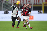 Davide Calabria of AC Milan and Blaise Matuidi of Juventus during the Coppa Italia match at Giuseppe Meazza, Milan. Picture date: 13th February 2020. Picture credit should read: Jonathan Moscrop/Sportimage PUBLICATIONxNOTxINxUK SPI-0487-0002<br /> Ac Milan Vs Juventus Coppa Italia <br /> Photo Jonathan Moscrop/Sportimage/Imago/Insidefoto <br /> ITALY ONLY