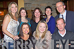 Aishling McCoy, seated centre, who is leaving Kostal, enjoying her going away party at Leen's Hotel Abbeyfeale on Saturday night.  pictured front l-r Rita Brouder, Ashland McCoy and Pat Devine.  Back l-r Caroline McCarthy, Claire O'Connor, Mag kelly, Anne Murphy and John O'Connor.     Copyright Kerry's Eye 2008