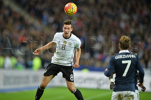 13.11.2015. Stade de France, Paris, France. International football friendly. France versus Germany.  Julian Draxler . The game was parially interupted as the paris terror attacks took place and bombs were heard going off outside the stadium.