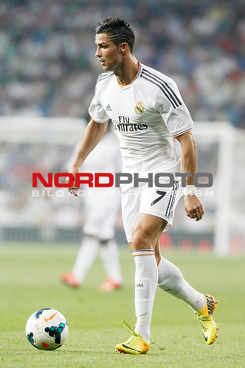 Real Madrid's Cristiano Ronaldo during La Liga match.August 18,2013. Foto © nph / Acero)