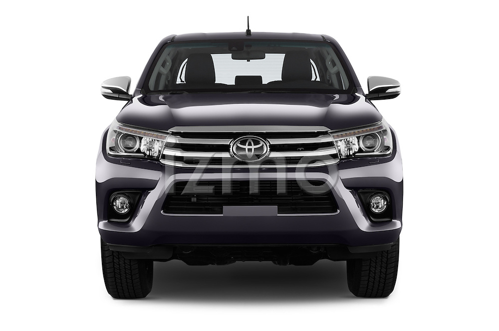 Car photography straight front view of a 2017 Toyota Hilux Lounge-Double 4 Door Pickup Front View