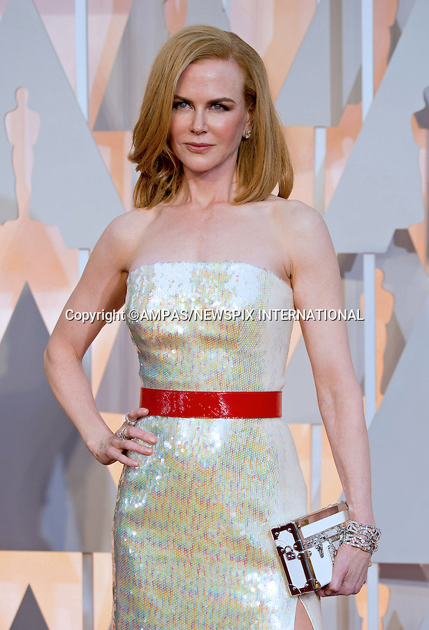 22.02.2015; Hollywood, California: 87TH OSCARS - NICOLE KIDMAN<br /> Celebrity arrivals at the Annual Academy Awards, Dolby Theatre, Hollywood.<br /> Mandatory Photo Credit: NEWSPIX INTERNATIONAL<br /> <br />               **ALL FEES PAYABLE TO: &quot;NEWSPIX INTERNATIONAL&quot;**<br /> <br /> PHOTO CREDIT MANDATORY!!: NEWSPIX INTERNATIONAL(Failure to credit will incur a surcharge of 100% of reproduction fees)<br /> <br /> IMMEDIATE CONFIRMATION OF USAGE REQUIRED:<br /> Newspix International, 31 Chinnery Hill, Bishop's Stortford, ENGLAND CM23 3PS<br /> Tel:+441279 324672  ; Fax: +441279656877<br /> Mobile:  0777568 1153<br /> e-mail: info@newspixinternational.co.uk
