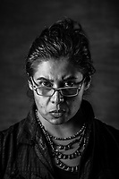 Mariana Selvas G&oacute;mez, 32, stands for a portrait on July 27, 2016 in Mexico City, Mexico. A decade after two-dozen women were sexually assaulted and beaten by police following protests outside of Mexico City, an international human rights commission is demanding a full investigation into the officials responsible for the incident and its potential cover-up, including the president of the country, Enrique Pena Nieto, who was the state governor at the time.<br /> She was a student of Etnology and Anthropology in 2006. <br /> Everything changes, you see the world in a different way, it is like someone takes down a blindfold from your eyes and you see something horrific, something you knew was there, you were aware of its existence, you weren&acute;t indifferent,, but the moment you experienced it firsthand, you tell yourself &lsquo;wow&rsquo; this is so much worse and horrible than I ever could have imagined.<br /> Te cambia todo, ves el mudno de un modo muy crudo, es como si de repente te quitaran una venda de los ojos y vieras algo horrible que sab&iacute;as que exist&iacute;a, no eras ni indiferente, sabes que ah&iacute; esta pero en el momento en que lo vives, dices wow, es m&aacute;s feo  y m&aacute;s horrible de lo que me imaginaba.<br /> Atenco was a turning point of my life. It was as if my innocence was stripped down from me in one night. <br /> &ldquo;This process of 10 years, has been very hard, very difficult and at the same time very beautiful. Regardless of the fact we started it so hurt, so broken, physically and emotionally we had and held each other.&rdquo;<br /> As a student the focus of her research 3 was on political torture and repression. <br /> &ldquo;Estamos viviendo una Guerra de alta intensidad, una Guerra declarada en contra del pueblo , el estado, gobienro nos ha declarado la Guerra, y nosotros solo estamos muriendo. Si estoy en una etapa, donde a 10 a&ntilde;os del 2006 las cosas van peor.&rdquo;<br /> &ldquo;We are going through a hi