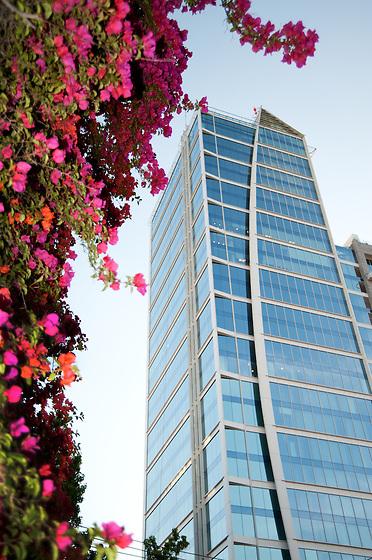 Edificios en Santiago de Chile / Hotel W, Barrio El Golf, Las Condes.