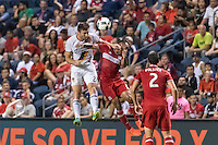 Bridgeview, IL - Wednesday, August 24, 2016:  The Chicago Fire and LA Galaxy played to a 2-2 draw in a Major League Soccer (MLS) game at Toyota Park.