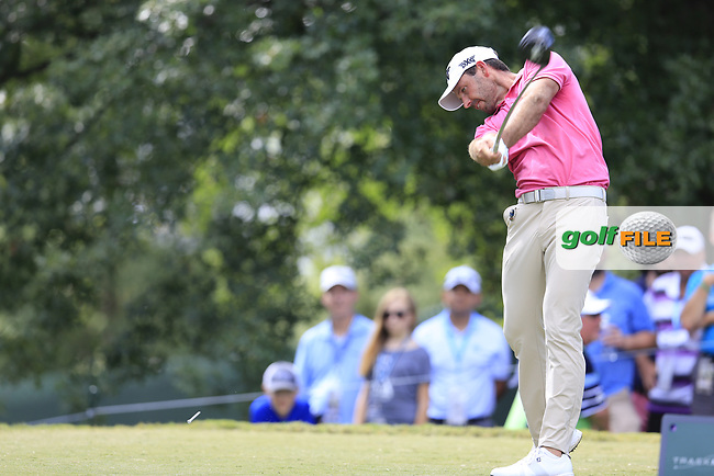 Charl Schwartzel (RSA) tees off the 16th tee during Saturday's Round 3 of the 2017 PGA Championship held at Quail Hollow Golf Club, Charlotte, North Carolina, USA. 12th August 2017.<br /> Picture: Eoin Clarke | Golffile<br /> <br /> <br /> All photos usage must carry mandatory copyright credit (&copy; Golffile | Eoin Clarke)