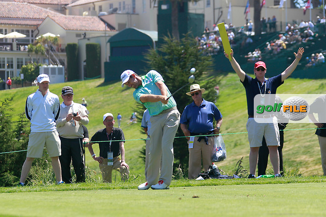 Padraig Harrington (IRL) tees off the 4th tee during Monday's Practice Day of the 112th US Open Championship at The Olympic Club, San Francisco,  California, 11th June 2012 (Photo Eoin Clarke/www.golffile.ie)