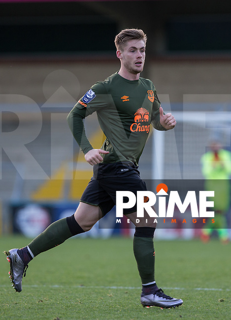 Conor McAleny of Everton during the Barclays U21 Premier League match between Reading and Everton at Adams Park, High Wycombe, England on 9 December 2015. Photo by Andy Rowland.