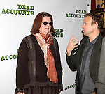 Playwright Theresa Rebeck and Norbert Leo Butz attending the Meet & Greet the cast of the new Broadway Play 'Dead Accounts' on October 12, 2012 in New York City.