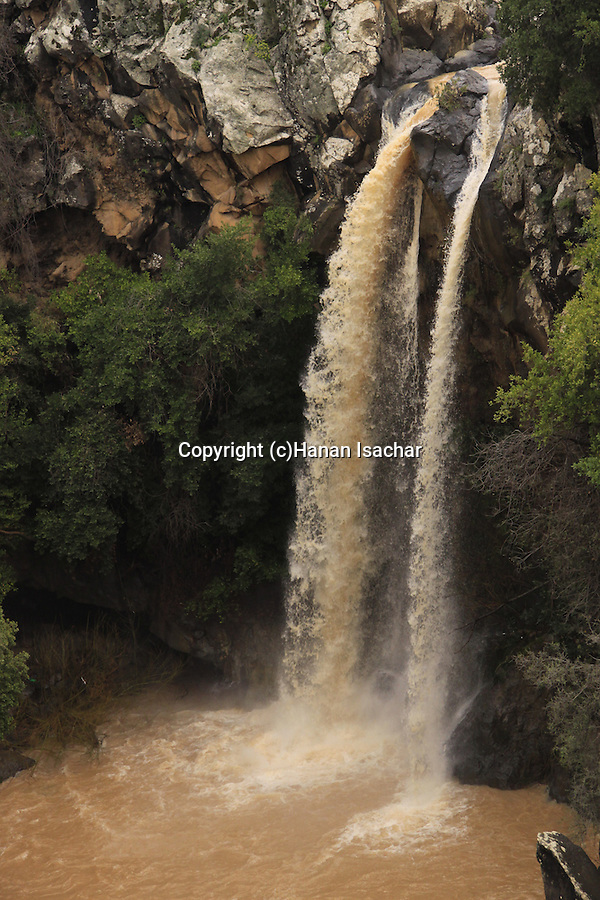 Sa'ar waterfall in the Golan Heights