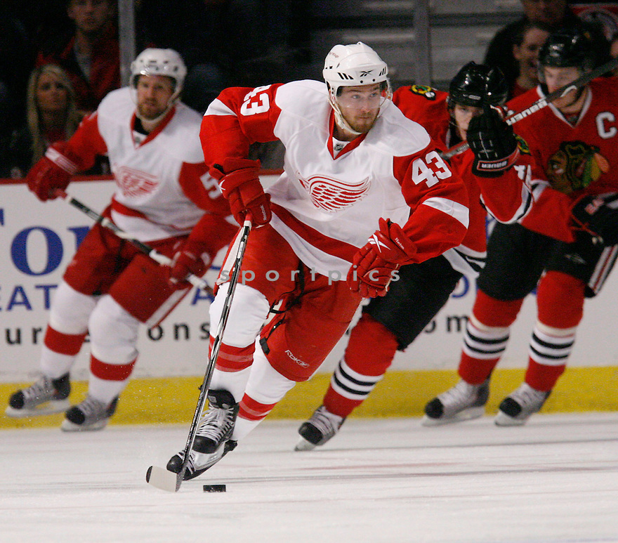 DARREN HELM, of the Detroit Red Wings  in action during the Red Wings game against the Chicago Blackhawks in Chicago, IL on May 22, 2009  The Blackhawks win 4-3.
