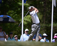 Gainesville, VA - August 2, 2015: Mark Wilson tees off on the 15th hole of the Quicken Loans National at the Robert Trent Jones Golf Club in Gainesville, VA, August 2, 2015.   (Photo by Don Baxter/Media Images International)