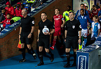 Referee Stephen Martin leads the teams onto the pitch<br /> <br /> Photographer Andrew Kearns/CameraSport<br /> <br /> The EFL Sky Bet Championship - Blackburn Rovers v Nottingham Forest - Tuesday 1st October 2019  - Ewood Park - Blackburn<br /> <br /> World Copyright © 2019 CameraSport. All rights reserved. 43 Linden Ave. Countesthorpe. Leicester. England. LE8 5PG - Tel: +44 (0) 116 277 4147 - admin@camerasport.com - www.camerasport.com