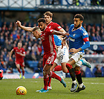 01.02.2020 Rangers v Aberdeen: Shay Logan and Connor Goldson