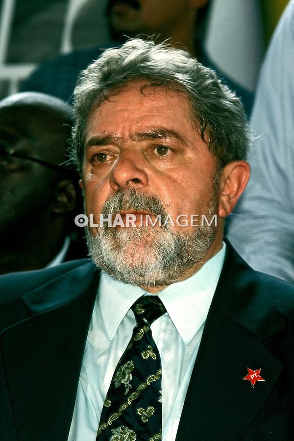 Presidente Luis Inácio Lula da Silva. SP. 2002. Foto de Ricardo Azoury.