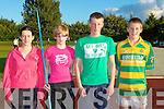 8108.Javelin competitors at the athletics meet in Castleisland Friday evening l-r: Agata Ostruszka, Jessica Mangan Farranfore/Maine Valley, Mal O'Callaghan Gneeveguilla and David O'Keeffe Boherbue.