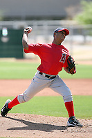 Yeison Almeida #72 of the Los Angeles Angels plays in a minor league spring training game against the Arizona Diamodnbacks at the Angels minor league complex on March 17, 2011  in Tempe, Arizona. .Photo by:  Bill Mitchell/Four Seam Images.