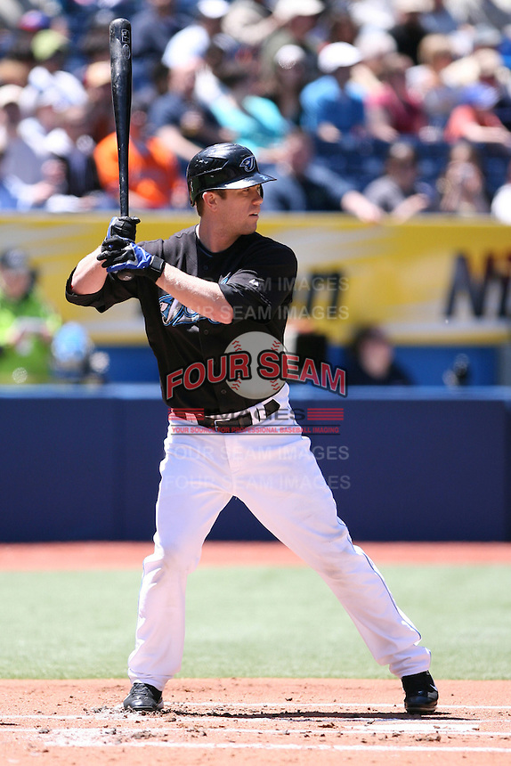 May 24th 2009:  Second baseman Aaron Hill (2) of the Toronto Blue Jays during a game at the Rogers Centre in Toronto, Ontario, Canada .  Photo by:  Mike Janes/Four Seam Images