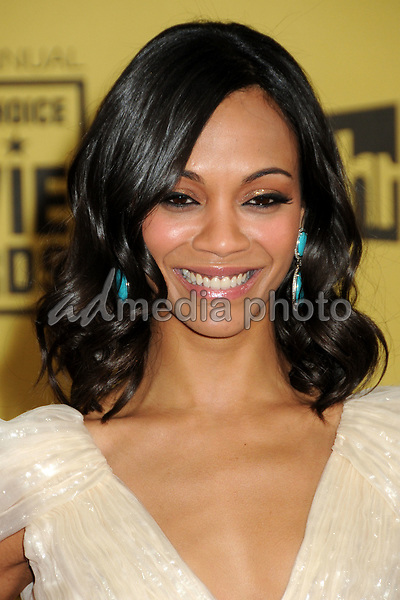 15 January 2010 - Hollywood, California - Zoe Saldana. 15th Annual Critics' Choice Movie Awards - Arrivals held at the Hollywood Palladium. Photo Credit: Byron Purvis/AdMedia