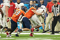 SAN ANTONIO, TX - NOVEMBER 23, 2019: The Florida Atlantic University Owls defeat the University of Texas at San Antonio Roadrunners 40-26 at the Alamodome. (Photo by Jeff Huehn)