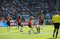 VOETBAL: HEERENVEEN: Abe Lenstra Stadion, 12-08-2012, Eredivisie, seizoen 2012/2013, sc Heerenveen - NEC, Eindstand 0-2, Rens van Eijden (#3), Evander Sno (#6), Michel Breuer (#21), Oussama Assaidi (#22), Ryan Koolwijk (#8), ©foto Martin de Jong