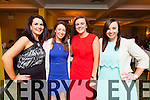 Enjoying the Dromid GAA Social in the Waterville Lake hotel on Friday night were l-r; Niamh O'Sullivan, Fiona Murphy, Michelle O'Sullivan & Martina Sheehan.