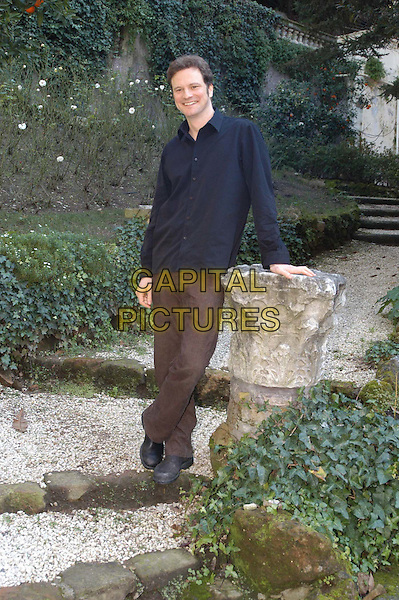 COLIN FIRTH.3 December 2003.full length, full-length, brown trousers, blue shirt.www.capitalpictures.com.sales@capitalpictures.com.© Capital Pictures