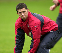 12/02/2004 Six Nations Rugby England Training- Pennyhill Park- Bagshot.Henry Paul act's as scrum half. in the morning training session..   [Mandatory Credit, Peter Spurier/ Intersport Images].
