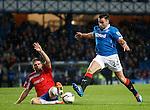 Darren McGregor challenged by Marcus Fraser
