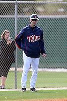 March 18, 2010:  Manager Jake Mauer of the Minnesota Twins organization during Spring Training at the Ft. Myers Training Complex in Ft. Myers, FL.  Photo By Mike Janes/Four Seam Images