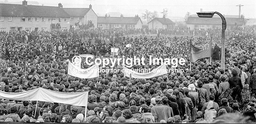 N Ireland Civil Rights Association march and rally in Newry, Co Down, N Ireland, UK, 6th February 1972. 197202060123b<br /> <br /> Copyright Image from Victor Patterson, 54 Dorchester Park, Belfast, UK, BT9 6RJ<br /> <br /> t1: +44 28 9066 1296<br /> t2: +44 28 9002 2446<br /> m: +44 7802 353836<br /> <br /> e1: victorpatterson@me.com<br /> e2: victorpatterson@gmail.com<br /> <br /> www.victorpatterson.com<br /> <br /> IMPORTANT: Please see my Terms and Conditions of Use at www.victorpatterson.com
